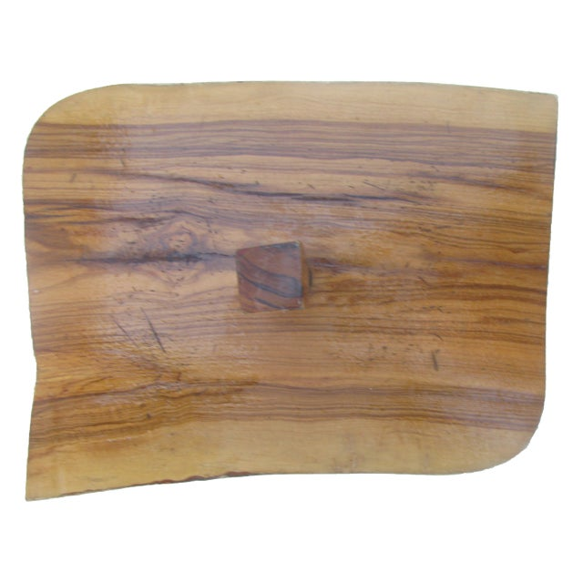 Mid-Century Modern Artisan-Created Cheese / Charcuterie Board For Sale - Image 3 of 5
