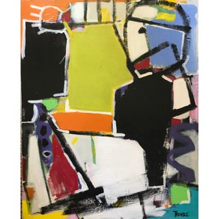 "Sarah Trundle ""Street Life"" Contemporary Abstract Painting For Sale"
