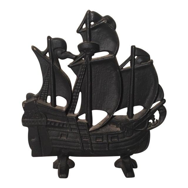 Cast iron pirate ship doorstop chairish
