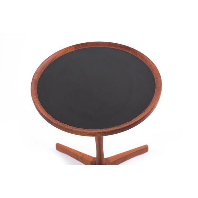 Mid-Century Modern 1960s Danish Teak Hans Andersen Pedestal Tables - a Pair For Sale - Image 3 of 4