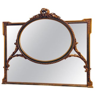 Finely Carved Hollywood Regency or Adams Style Over the Mantle or Wall Mirror For Sale