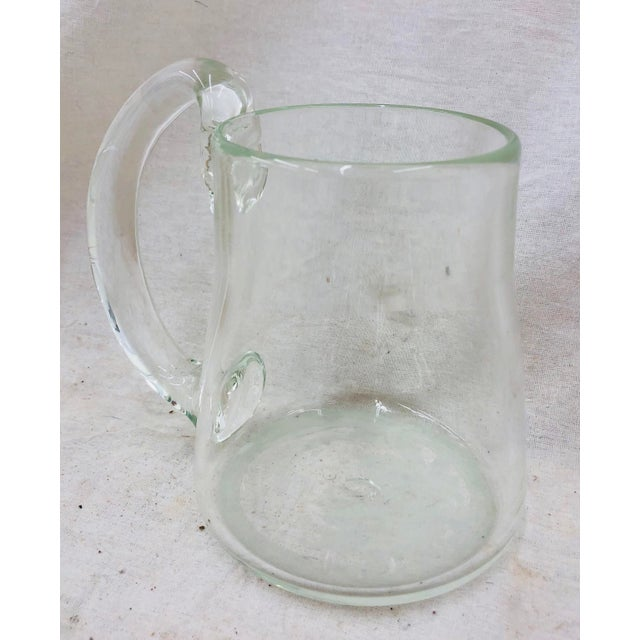 Handblown Glass Pitcher For Sale In Raleigh - Image 6 of 11