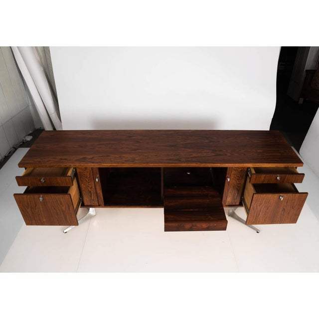 Midcentury Rosewood Credenza For Sale - Image 10 of 11
