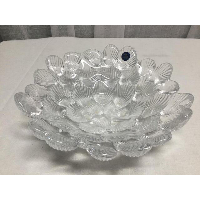 1950s Danish Crystal Clam Shell Bowl by Royal Copenhagen For Sale - Image 6 of 6