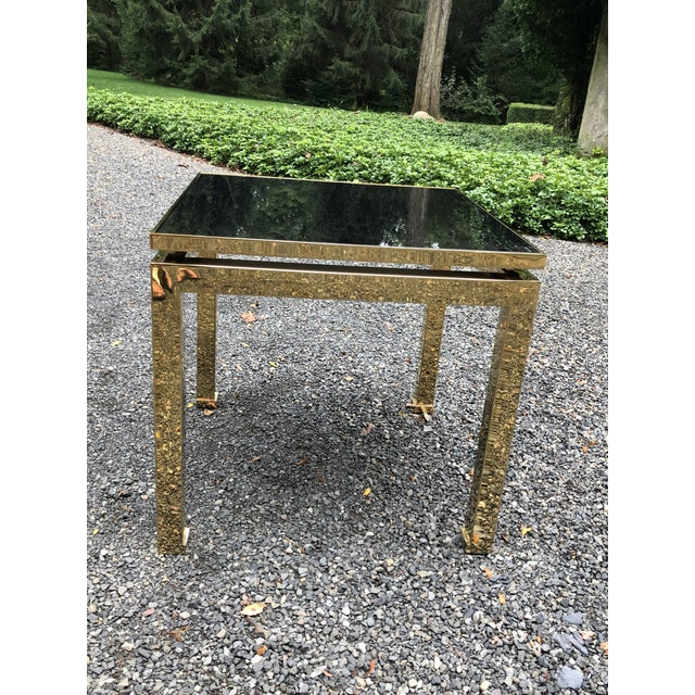 1970s French Maison Jansen Brass Occasional Table For Sale - Image 10 of 12