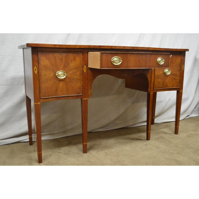 Statton Cherry Federal Style Serpentine Inlaid Sideboard For Sale In Philadelphia - Image 6 of 13