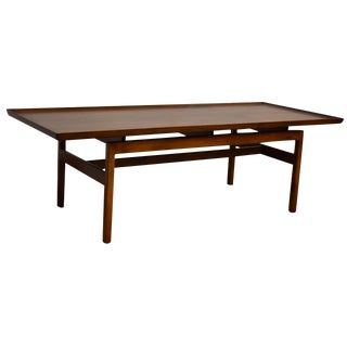 Jens Risom Mid-Century Walnut Coffee Table
