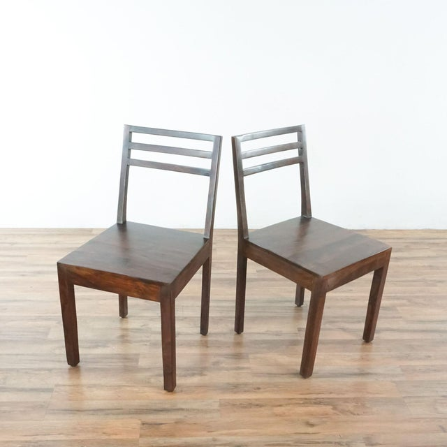 Wood Contemporary Monterey Crafts Justo Dining Chairs - a Pair For Sale - Image 7 of 7