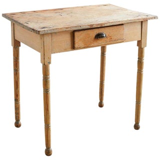 19th Century Rustic Pine Farmhouse Table For Sale