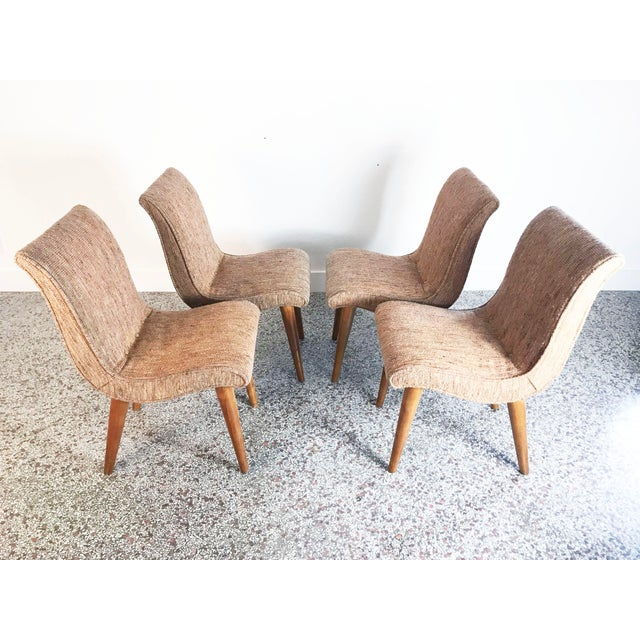 Russel Wright Scoop Dining Chairs - Set of 4 For Sale In Miami - Image 6 of 13