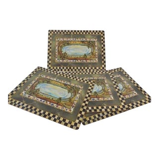 Mackenzie Childs Courtly Check Cloud Watching Placemats - Set of 5 For Sale