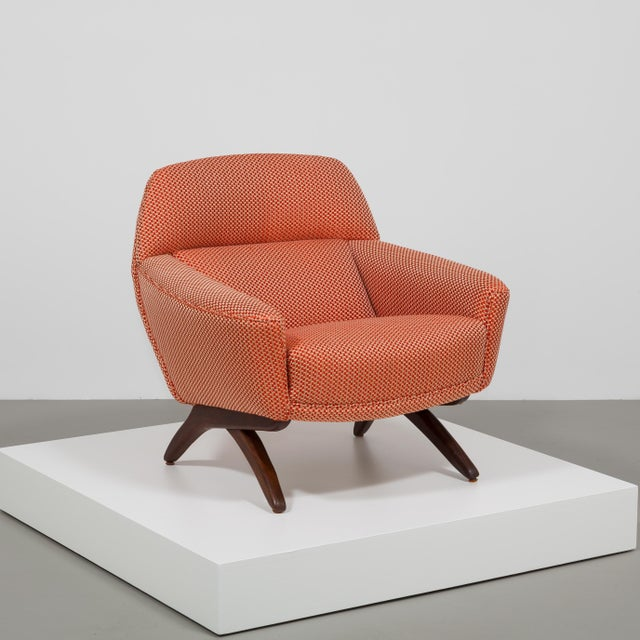 A Danish Leif Hansen attributed Upholstered Armchair 1950s Fully rebuilt and reupholstered by Talisman.