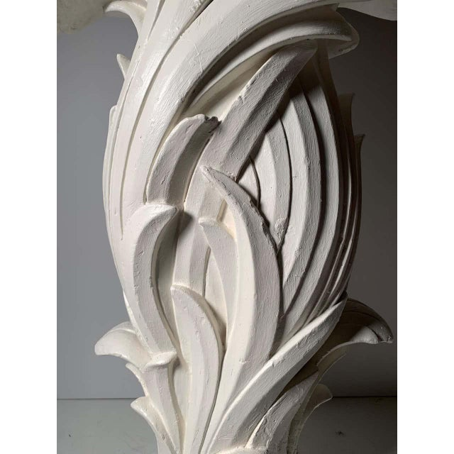 Vintage Plaster Console in manner of Serge Roche For Sale - Image 9 of 13