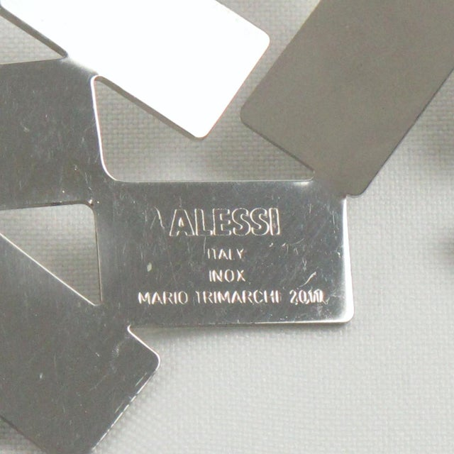 Metal Mario Trimarchi for Alessi Stainless Steel Futurist Collar Necklace For Sale - Image 7 of 10