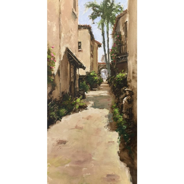 """Beckham Contemporary Architectural Oil Painting """"Worth Avenue Via"""" For Sale In West Palm - Image 6 of 7"""