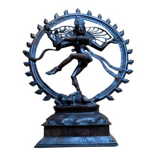 Antique Nataraja Sculpture in Bronze For Sale