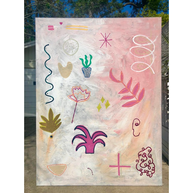Oversized Original Abstract on Canvas by Virginia Chamlee For Sale - Image 9 of 9