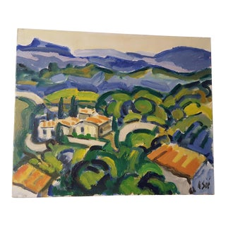 1998 French Painting, La Provence by Henri Sie For Sale
