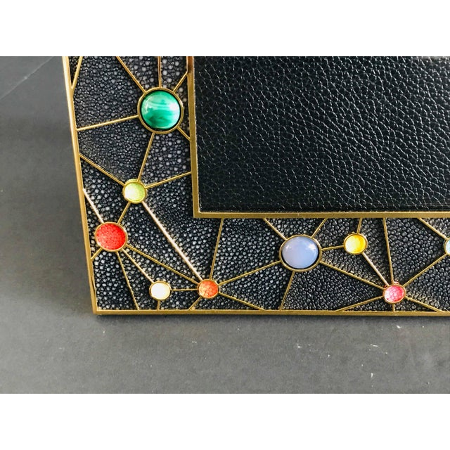 Stone Shagreen With Multi-Color Stones Photo Frame by Fabio Ltd For Sale - Image 7 of 10