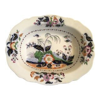 1820s Antique English Masons Ironstone Deep Serving Bowl For Sale