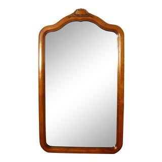 Vintage Dixie Dresser Tall Rectangular Mirror With Wood Frame For Sale