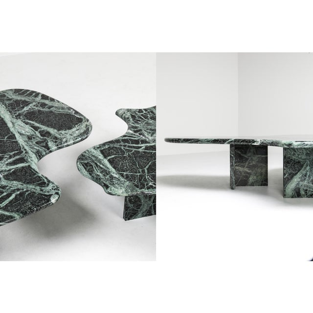 Stone Postmodern Green Marble Coffee Table in the Manner of Noguchi For Sale - Image 7 of 12