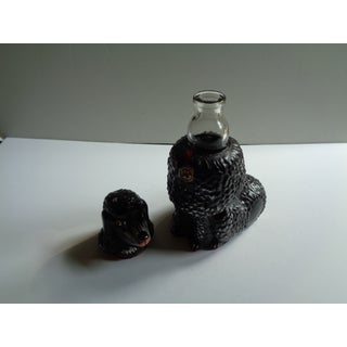 Mid- Century Italian Viarengo Black Poodle Dog Glass Decanter Preview