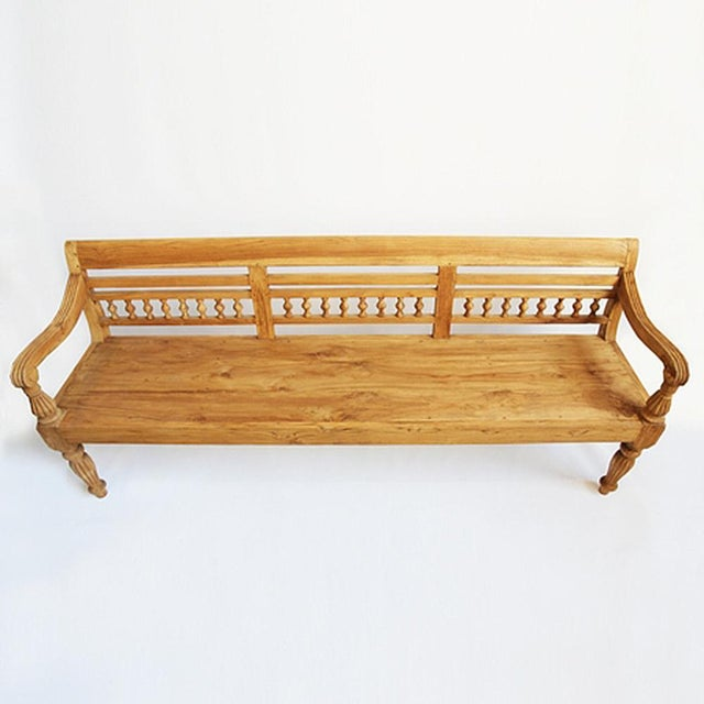 Colonial Teak Bench - Image 3 of 6