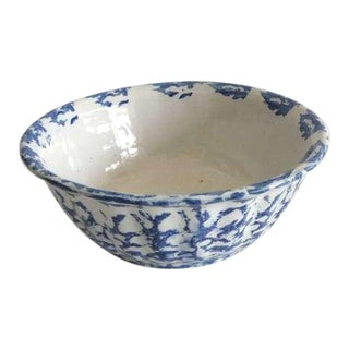 19th Century Spongeware Bowl For Sale