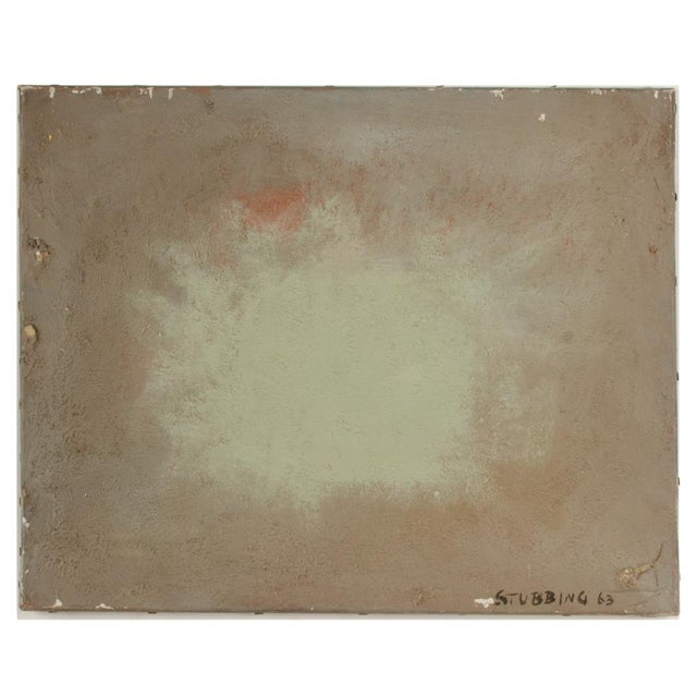 """Mid 20th Century """"Green Burst"""" Minimalist Abstract Oil Painting by Newton Haydn Stubbing For Sale In Philadelphia - Image 6 of 6"""