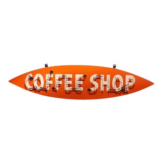"1950s Vintage ""Coffee Shop"" Neon Sign For Sale"