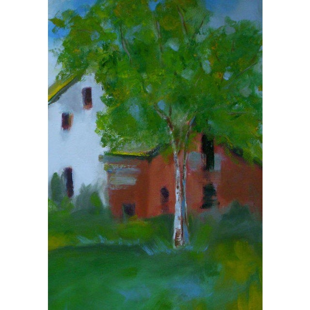 Original oil painting of a farm scene up in the north country of Willits where I spent my summers as a child. Oil. Signed...