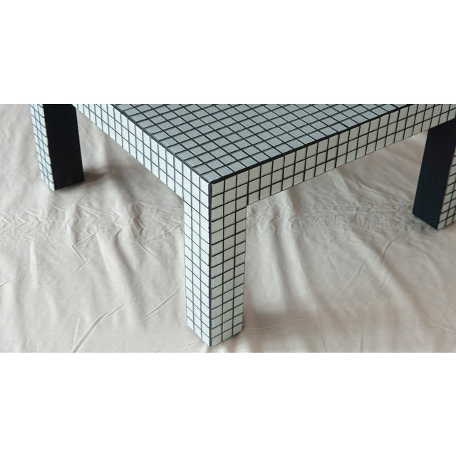 White Superstudio Coffe Tiled Table For Sale - Image 8 of 10