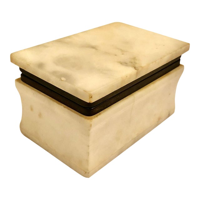 1940s Italian Marble Box For Sale