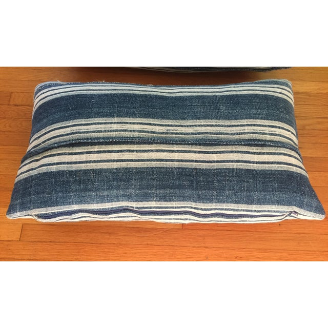 Vintage African Indigo Mud Cloth Pillows - A Pair - Image 3 of 8