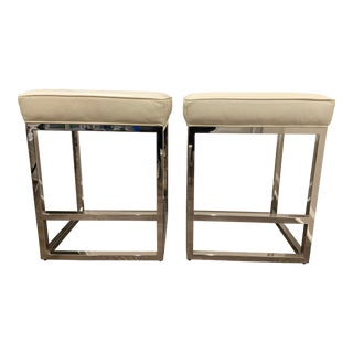 Mitchell Gold Bob Williams Stools - A Pair For Sale