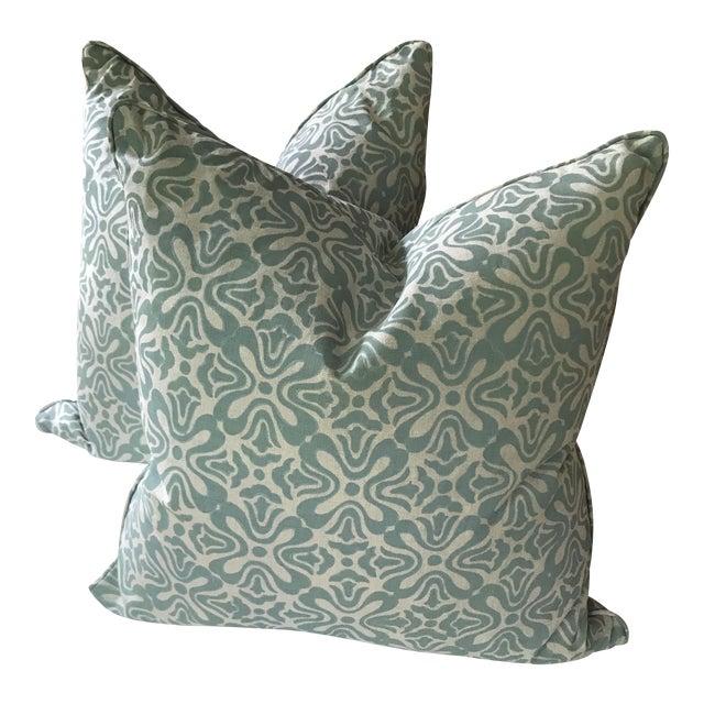 Galbraith & Paul Linen Pillows - A Pair For Sale