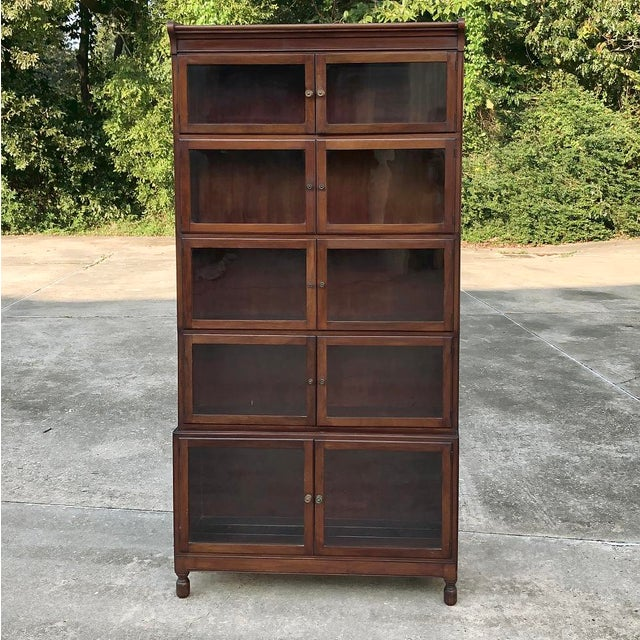 Antique English Mahogany Bookcase ~ File Cabinet For Sale - Image 11 of 12