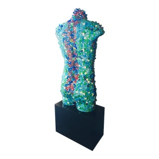 """""""Aquaman"""" Contemporary Postmodern Mixed-Media Sculpture by Mauro Oliveira For Sale"""