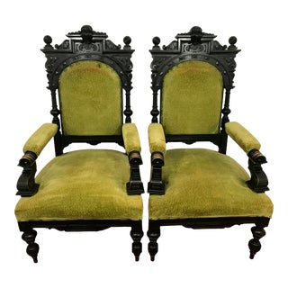 Russian Imperial Renaissance Revival Throne Chair For Sale