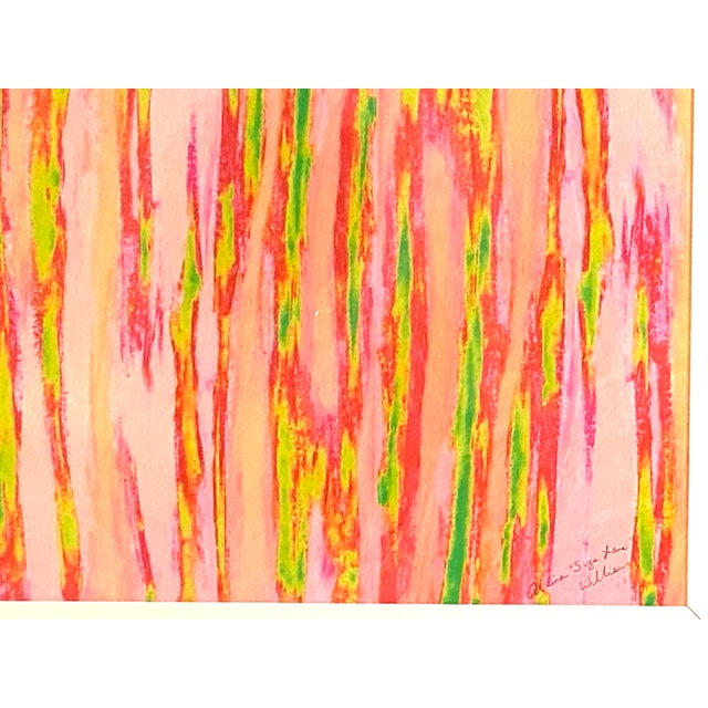 """Neon Green Abstract Pink Green """"Enlightened Terrain"""" Artist's Print by Suga Lane For Sale - Image 8 of 13"""