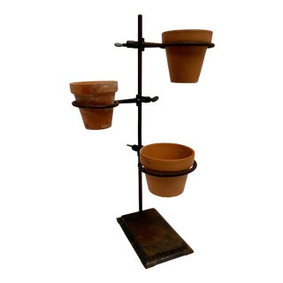 1940s Industrial Chemistry Lab Stand Planter For Sale