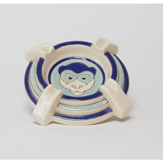 Art Deco 1930s Antique French Ceramic Ashtray/Catchall For Sale - Image 3 of 4