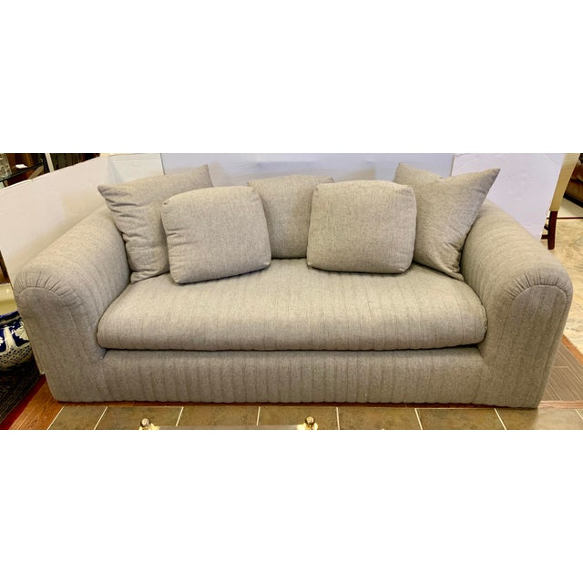 Textile Donghia by John Hutton Gray Sofa For Sale - Image 7 of 13