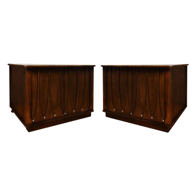 Mid-Century Sculpted Side Tables - Set of 3 For Sale