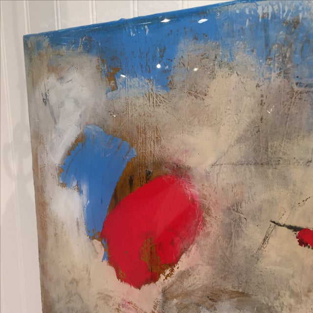 "Taffi Laing ""Poem"" Abstract Original Painting - Image 4 of 8"