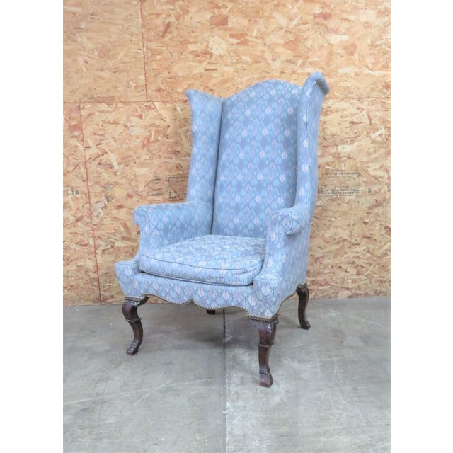 Chippendale Highback Wing Chair For Sale In Philadelphia - Image 6 of 6