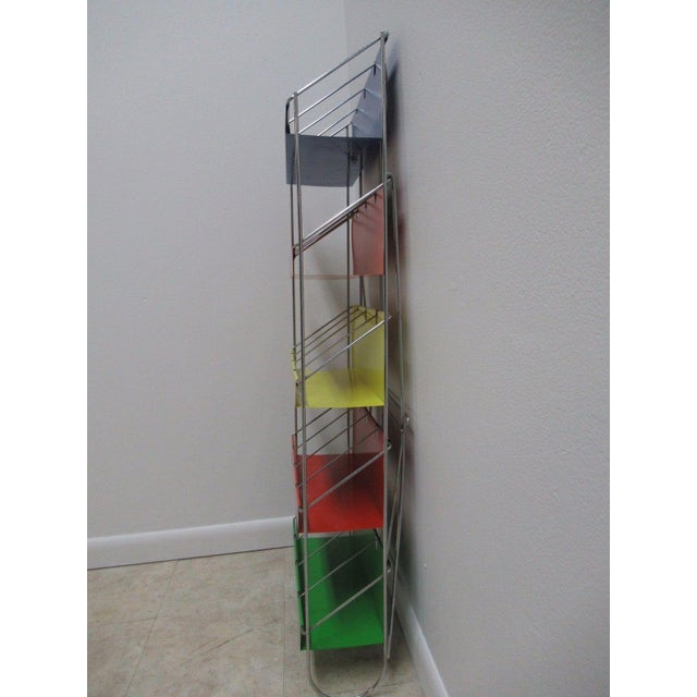 Vintage Chrome Multicolor Book Rack - Image 6 of 11
