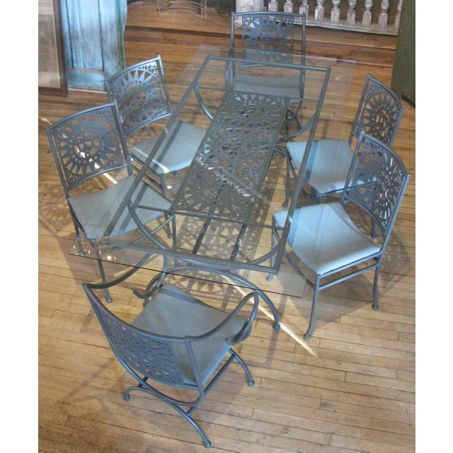 Vintage Arthur Umanoff Mayan Sun Dining Set - 7 Pieces For Sale - Image 9 of 9