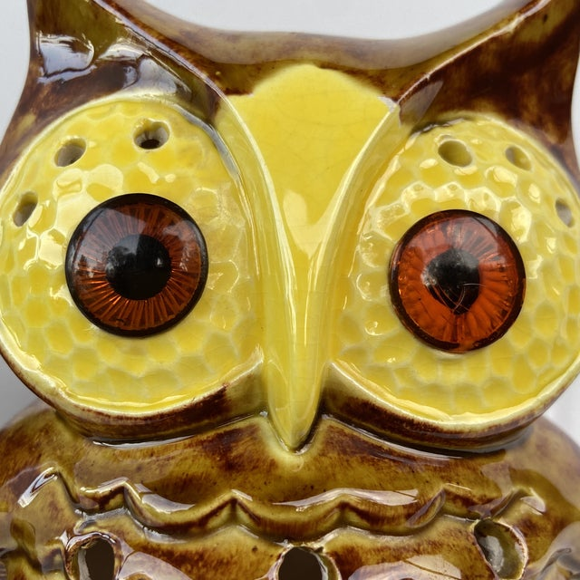 Mid Century Owl Votive Holders - A Pair For Sale - Image 4 of 12